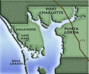 Charlotte County is located on the west coast of Florida.
