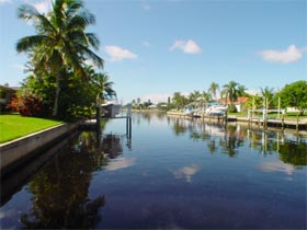 The canals of Punta Gorda Isles in Punta Gorda offer access to the harbor from nearly every home in PGI.